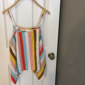 Colorful striped top